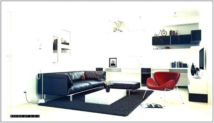 Black White Gray And Red Living Room