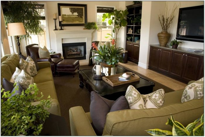 Blue And Brown Living Room Furniture
