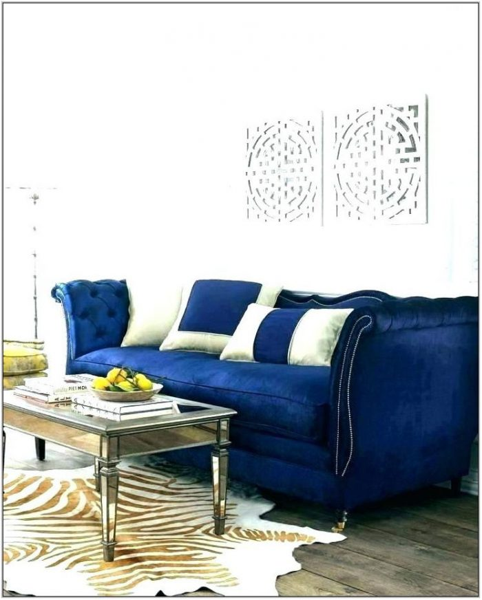 Blue Couch Living Room Set