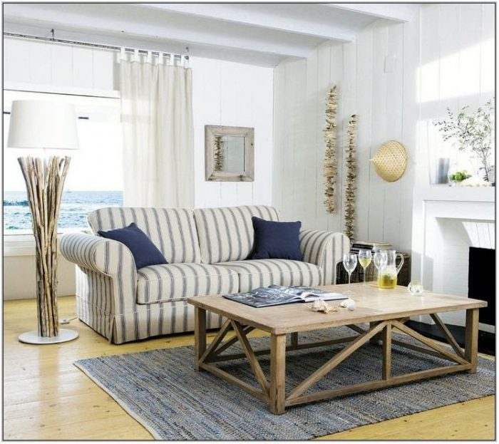 Coastal Inspired Living Rooms