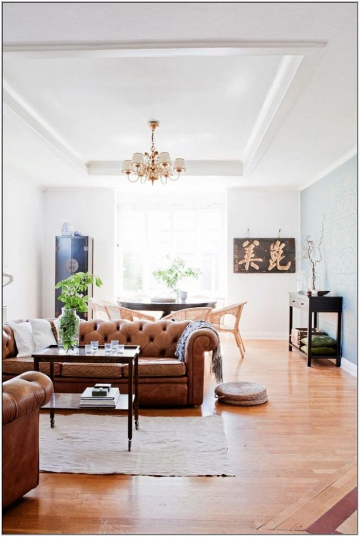 Cognac Couch Living Room