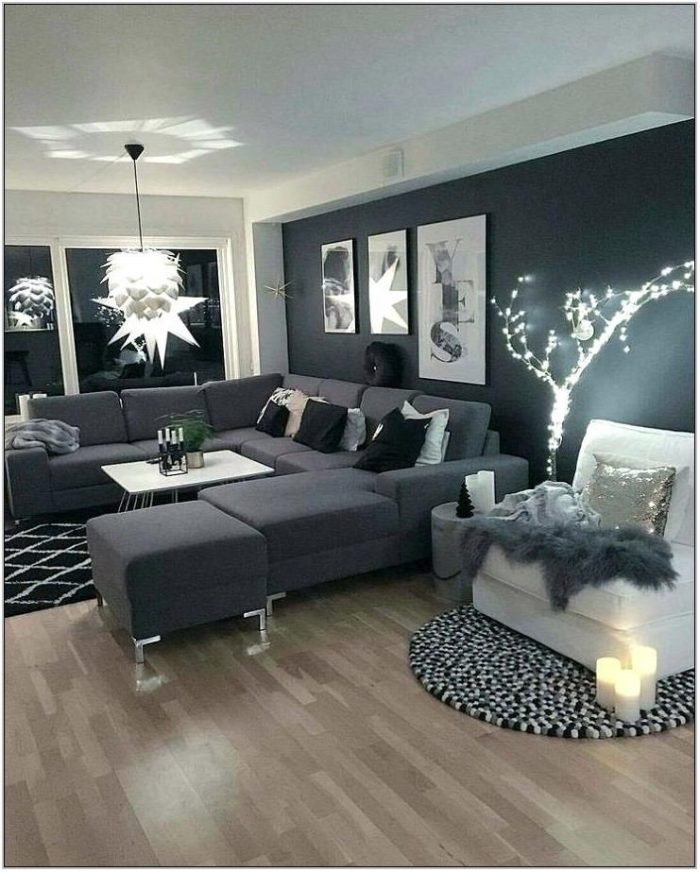 Dark Couch Living Room