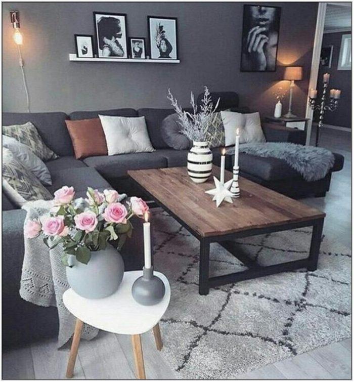 Dark Grey Living Room Ideas