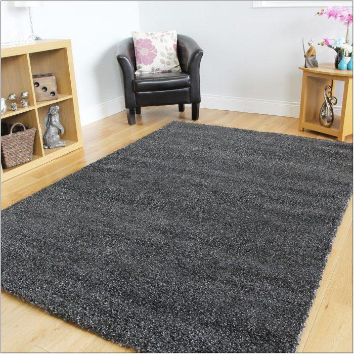 Dark Grey Living Room Rug
