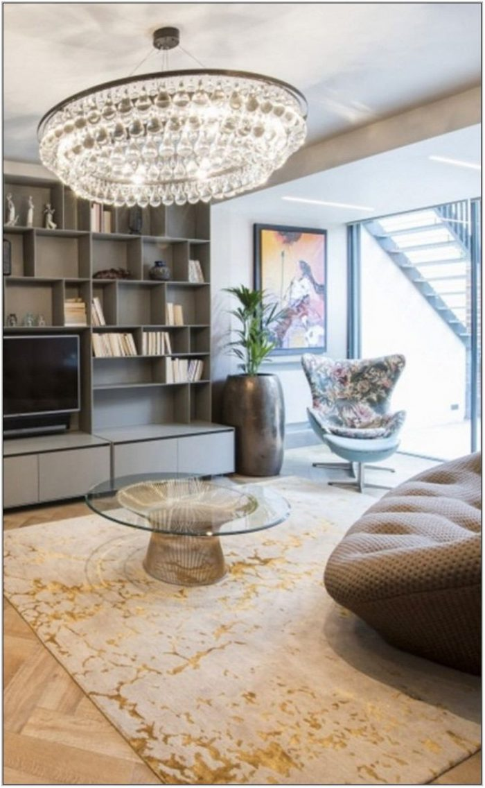 Gold Living Room Rug