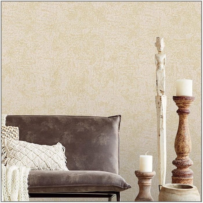Gold Wallpaper Living Room