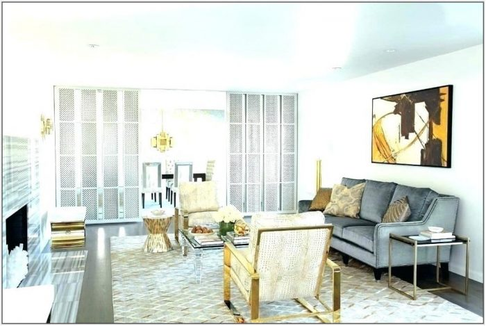 Gray And Gold Living Room