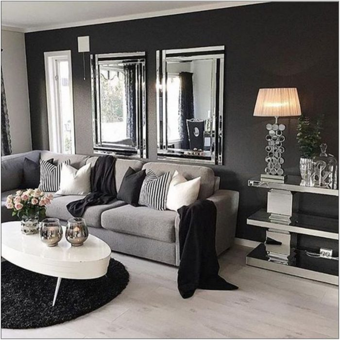 Grey And Black Sofa Living Room Ideas