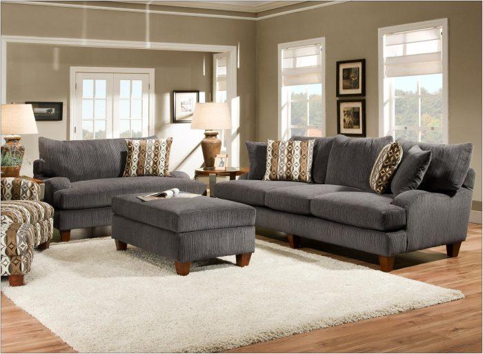Grey And Tan Living Room