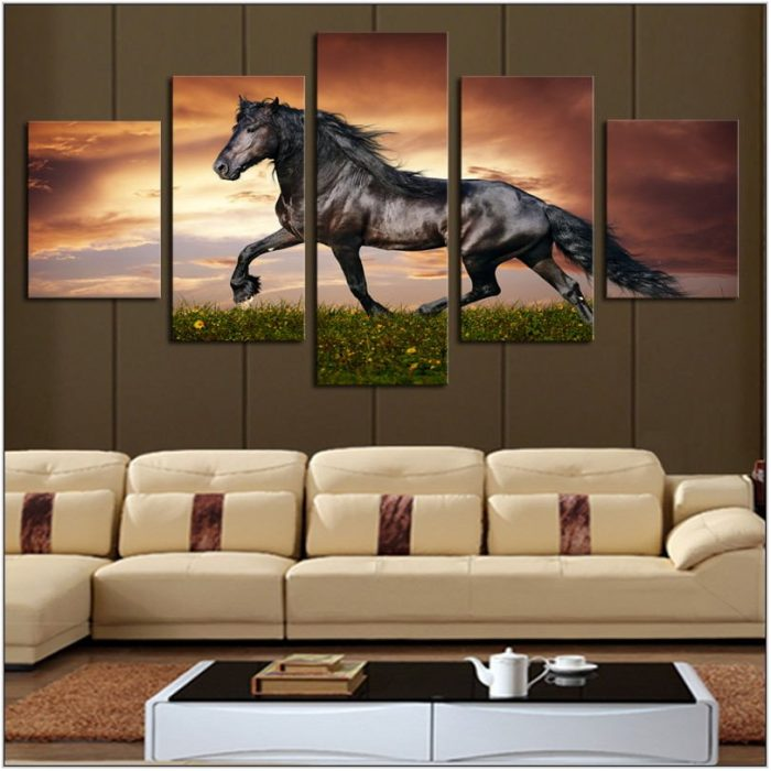 Horse Painting In Living Room
