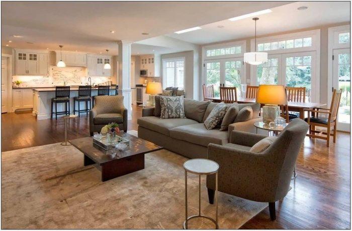 Kitchen Living Room Flooring Ideas