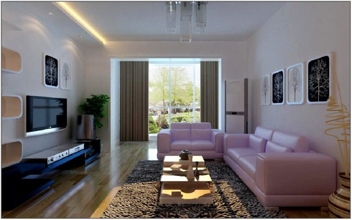 Light Purple Living Room