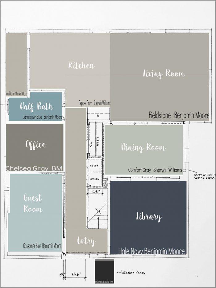 Living Room Kitchen Paint Color Ideas