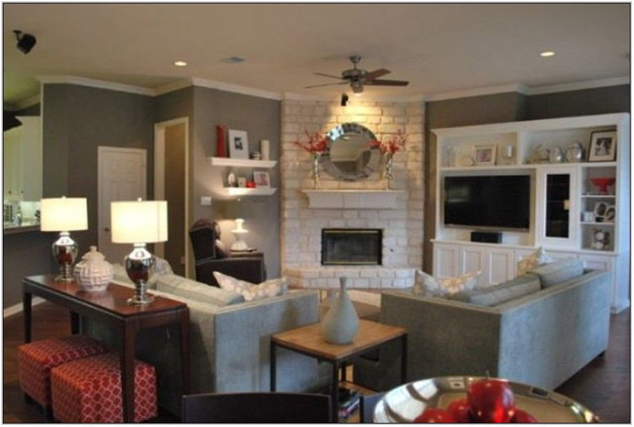Living Room Layout With Corner Fireplace