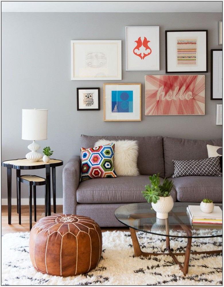 Living Room Pouf Ideas