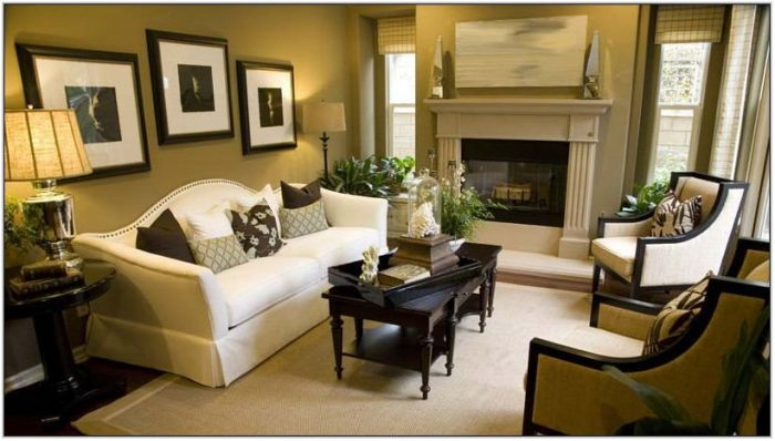 Living Room With End Tables